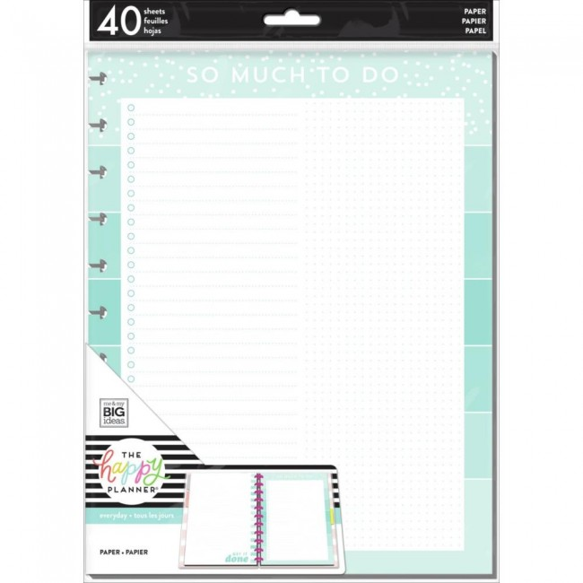 Insert feuilles pour Happy Planner Grand Color Stripe