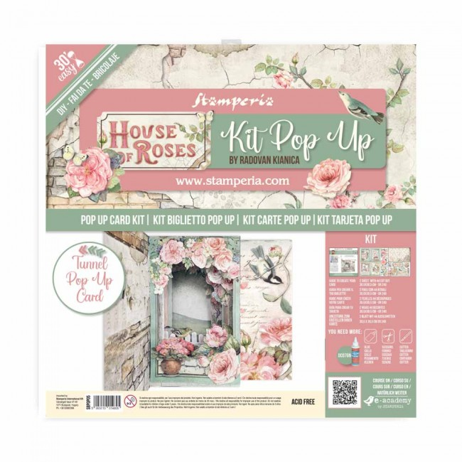Kit carte tunnel pop up House of Roses