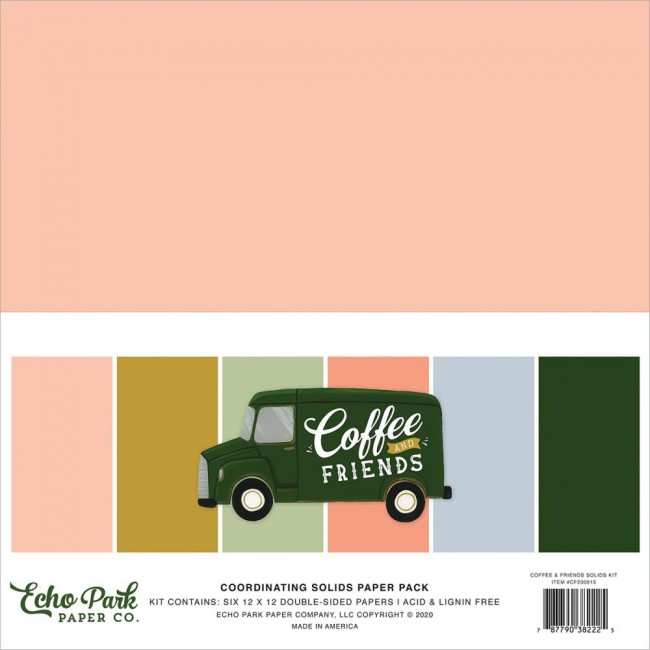 Kit Papiers Basiques 12x12 Coffee and Friends