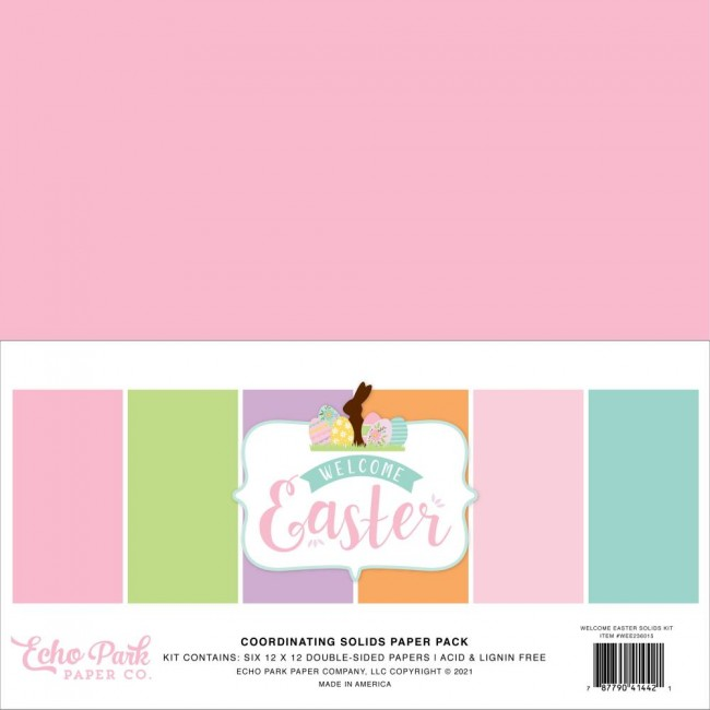 Kit Papiers Basiques 12x12 Welcome Easter Welcome Easter 6 Colors