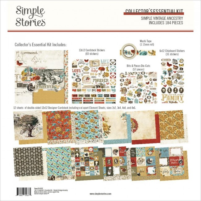 Kit Papiers Collector Essential Simple Vintage Ancestry