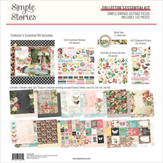 Kit Papiers Collector Essential Simple Vintage Cottage Fields