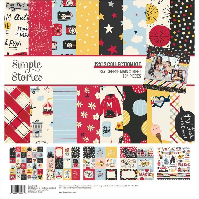 Kit Papiers Imprimés 12x12 et feuille de stickers Say Cheese Main Street
