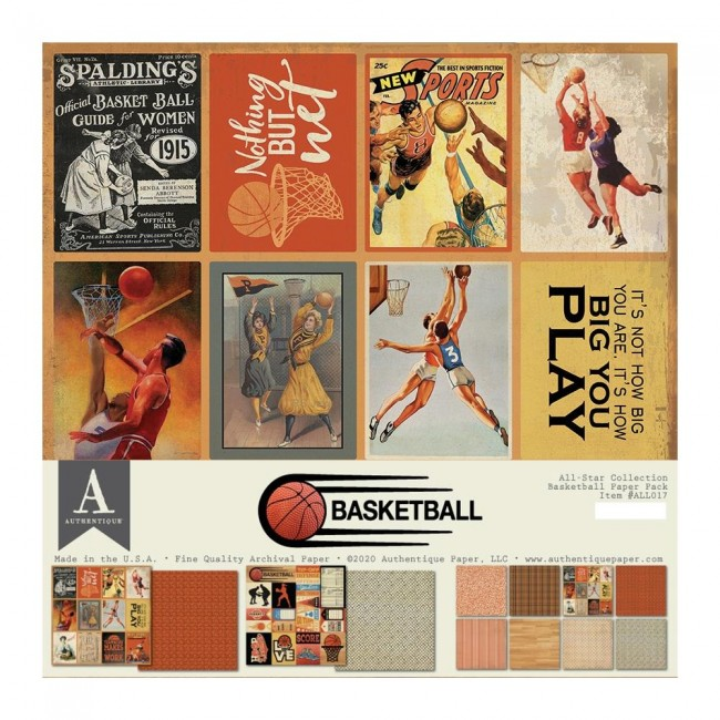 Kit Papiers Imprimés 12x12 All Star Basketball