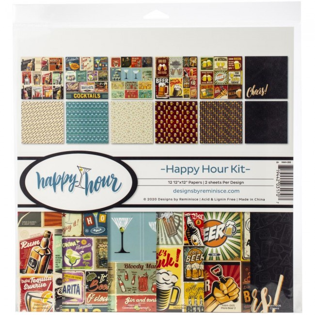Kit Papiers Imprimés 12x12 Happy Hour