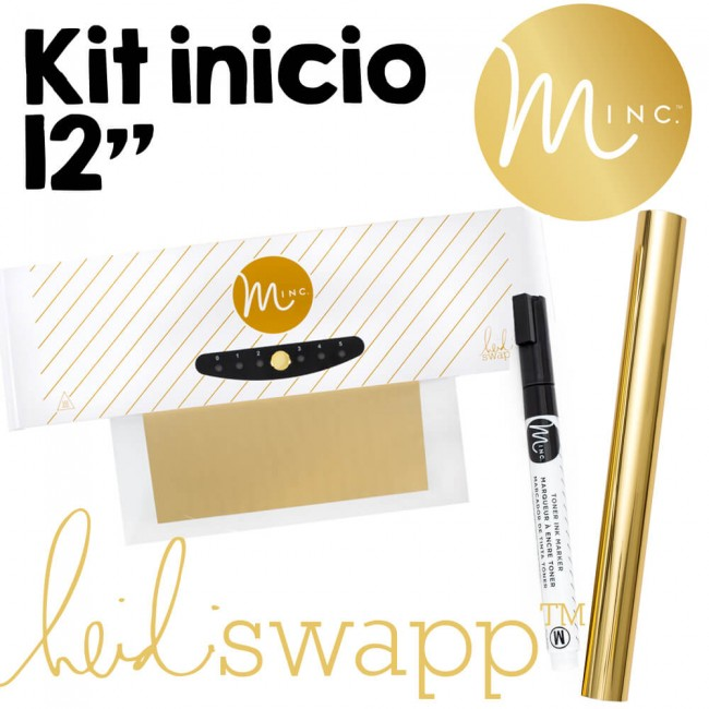 "Kit Initiation Minc 12"" + Foil Or + Feutre Toner"