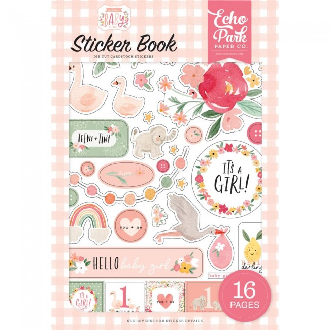 Carnet d'autocollants Welcome Baby Girl