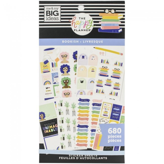 Carnet d'autocollants 193 stickers Bookish