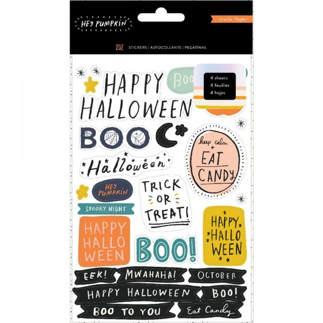 Carnet d'autocollants Hey Pumpkin Reedition With Holographic Foil & Glitter Accents