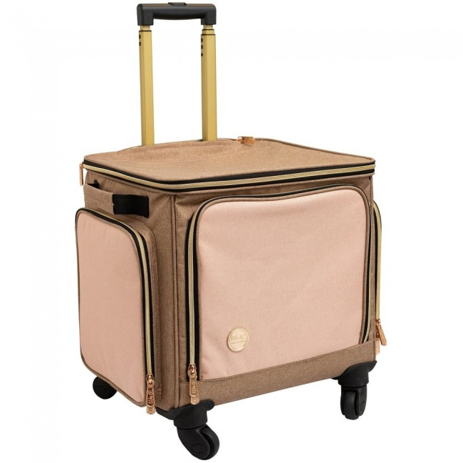 Valise Taupe & Pink