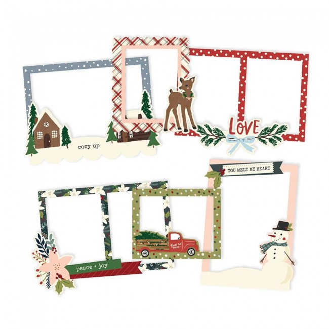 Cadres de chipboard Winter Cottage