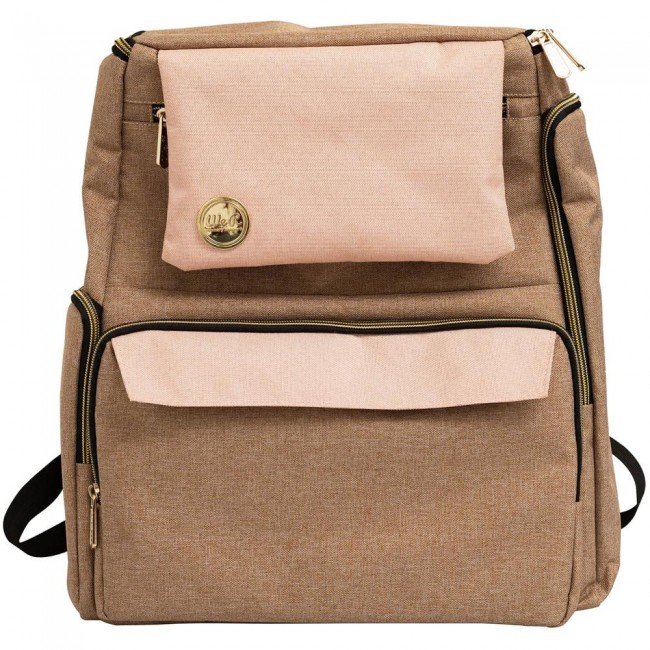 Cartable Taupe & Pink