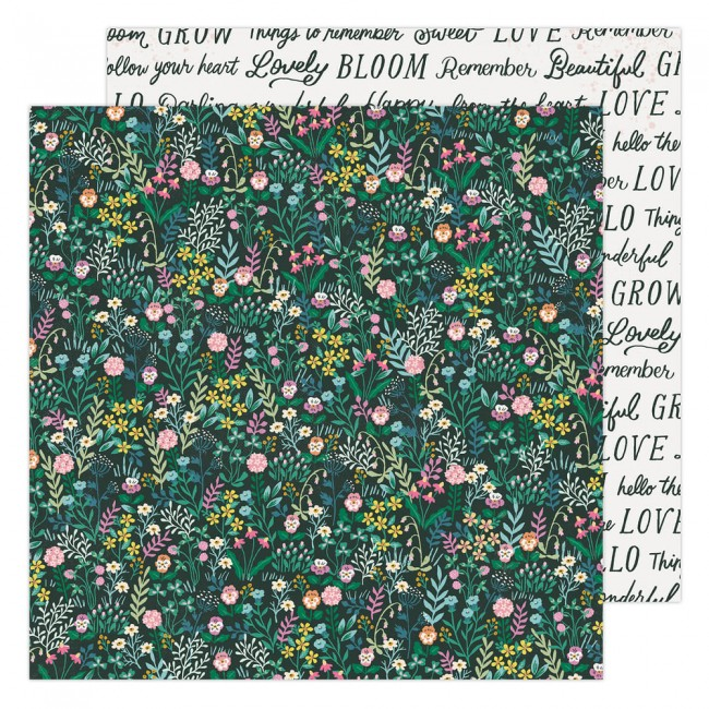 Papier Imprimé Recto-verso 12x12 Garden Party Maggie Holmes Happy Growing