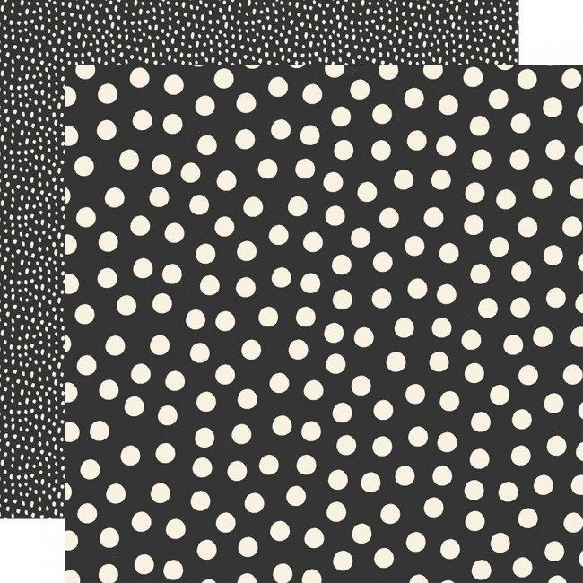 Papier Imprimé Recto-verso 12x12 Say Cheese Main Street Black Dots Simple Basics
