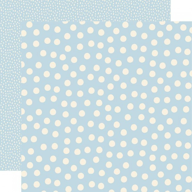 Papier Imprimé Recto-verso 12x12 Say Cheese Main Street Blue Dots Simple Basics