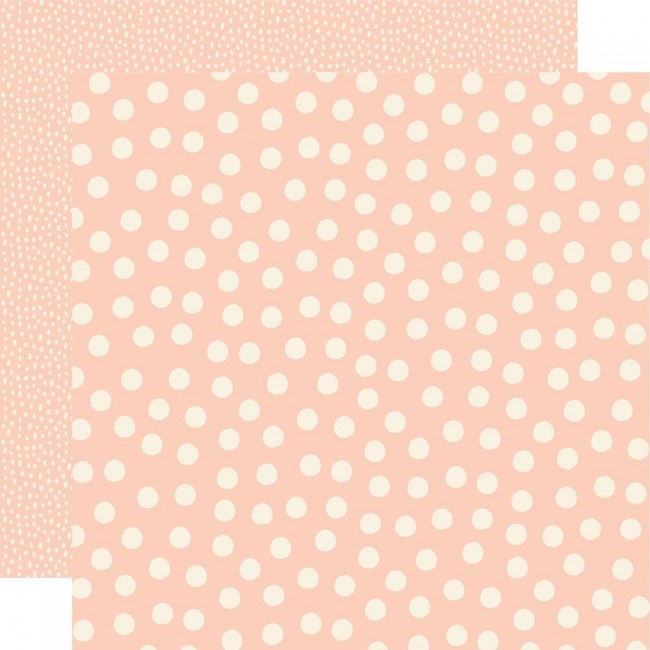 Papier Imprimé Recto-verso 12x12 Say Cheese Main Street Blush Dots Simple Basics