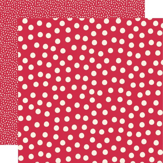Papier Imprimé Recto-verso 12x12 Say Cheese Main Street Red Dots Simple Basics