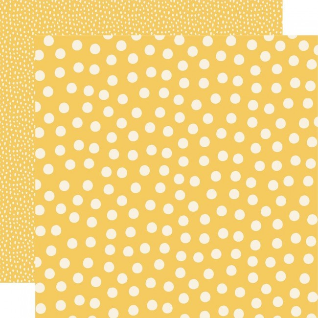 Papier Imprimé Recto-verso 12x12 Say Cheese Main Street Yellow Dots Simple Basics