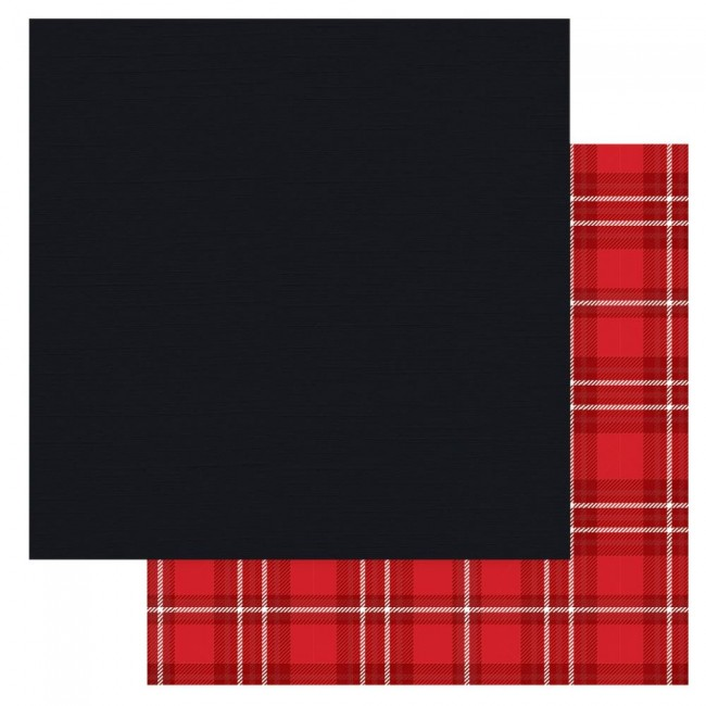 Papier Imprimé Recto-verso 12x12 Christmas Cheer Black Solids