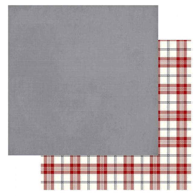 Papier Imprimé Recto-verso 12x12 Christmas Cheer Grey Solids