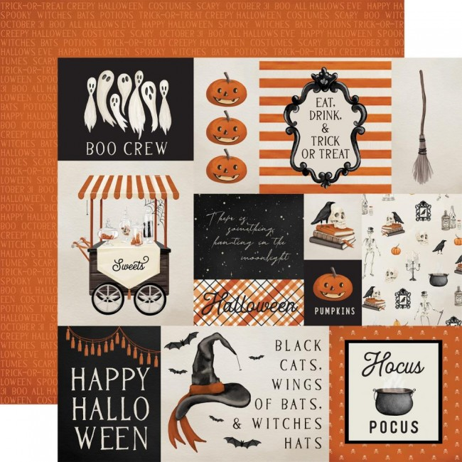 Papier Imprimé Recto-verso 12x12 Halloween Market Multi Journaling Cards