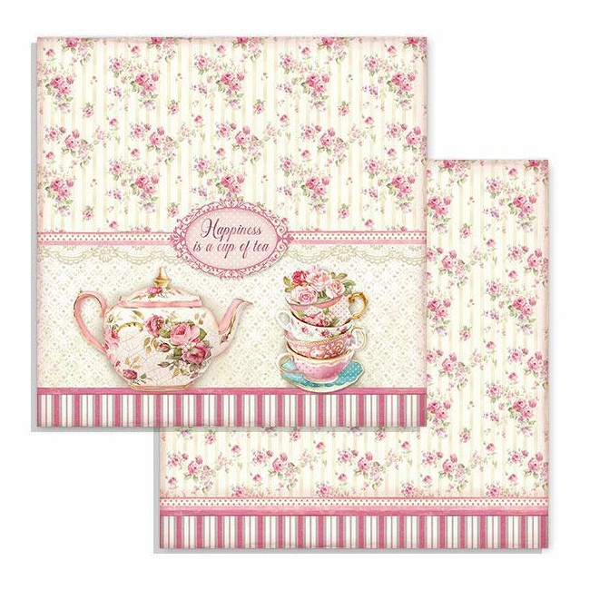 Papier Imprimé Recto-verso 12x12 Sweety Cup of Tea