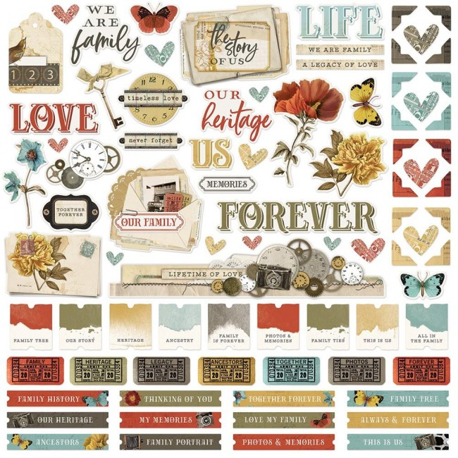 Autocollants 12x12 Simple Vintage Ancestry Combo