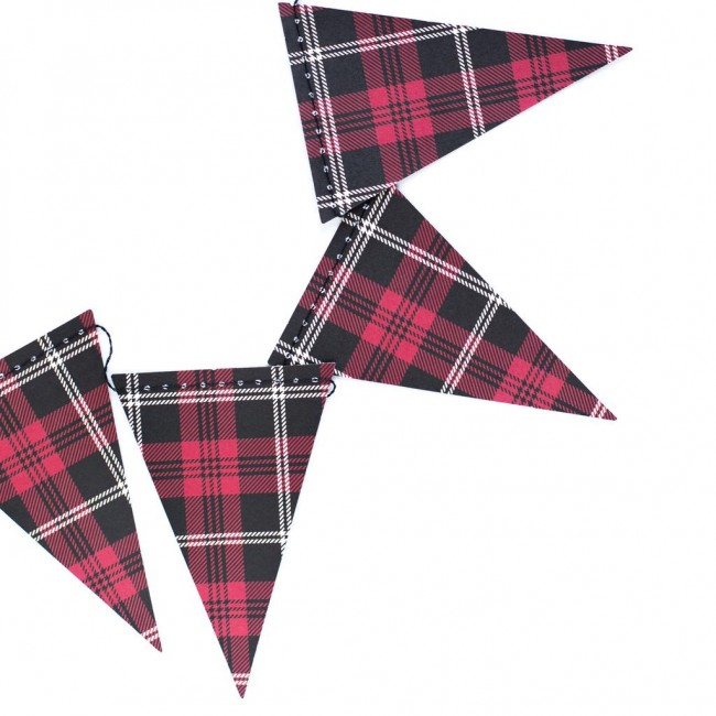 Pennants Plaid Mini Banner 9'