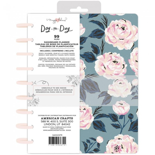 Plannificateur de disques sans date Day to Day Maggie Holmes Blue & Pink Rose