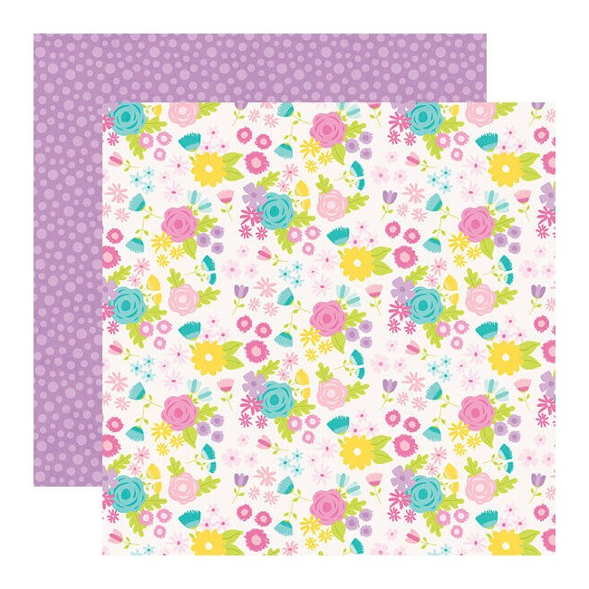 Papier Imprimé Recto-verso 12x12 Magical Birthday Birthday Girl