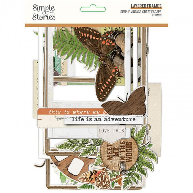 Die Cuts Simple Vintage Great Escape Layered Frames