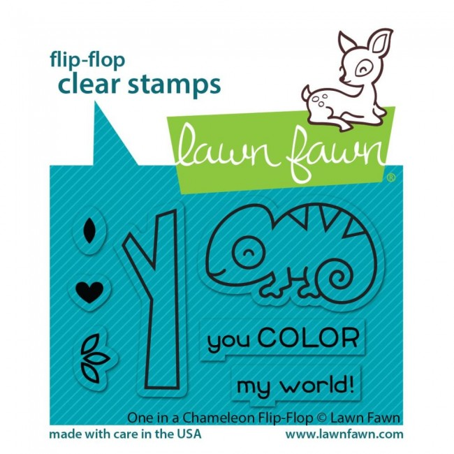 Tampon Acrylique 2x3 Lawn Fawn One In A Chameleon Flip-Flop
