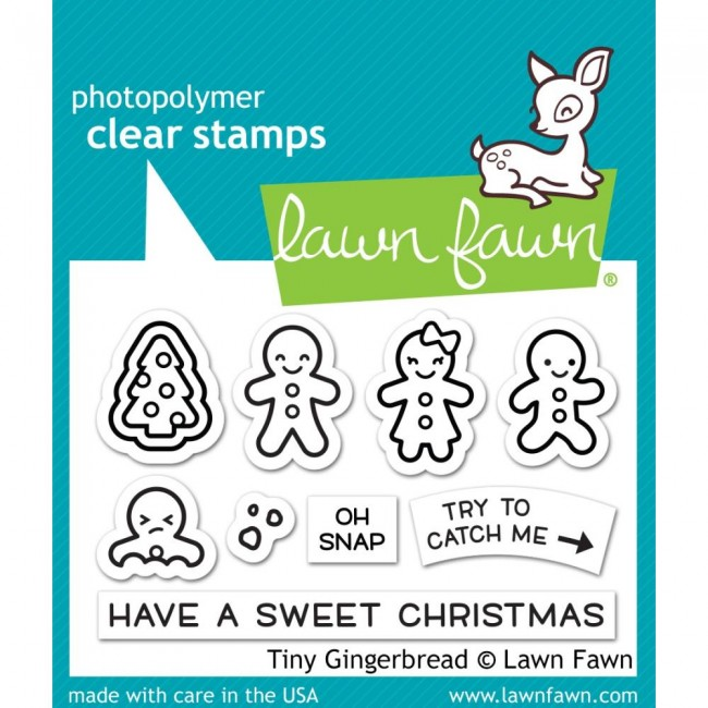 Tampon Acrylique 2x3 Lawn Fawn Tiny Gingerbread