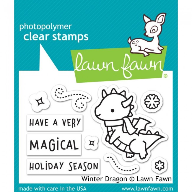 Tampon Acrylique 2x3 Lawn Fawn Winter Dragon