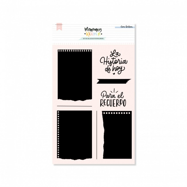 Tampon Acrylique 4x6 Lora Bailora Memory Keepers Notepad