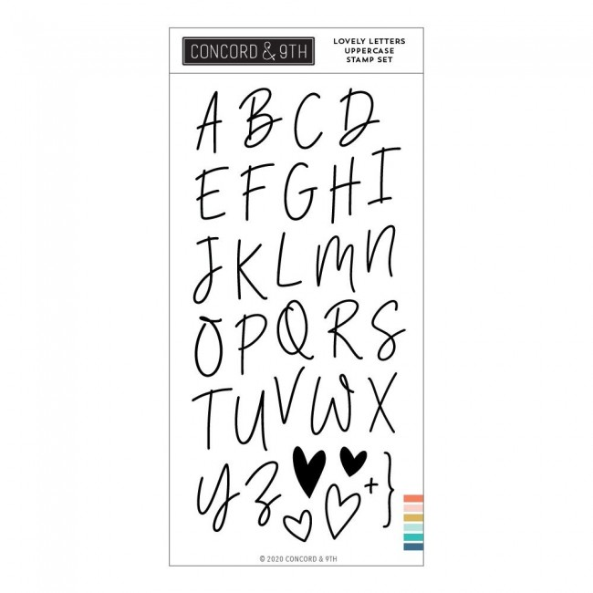 Tampon Acrylique 4x8 Lovely Letters Uppercase