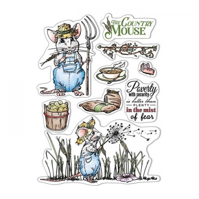 Tampon Acrylique 6x8 Aesop's Fables The country Mouse