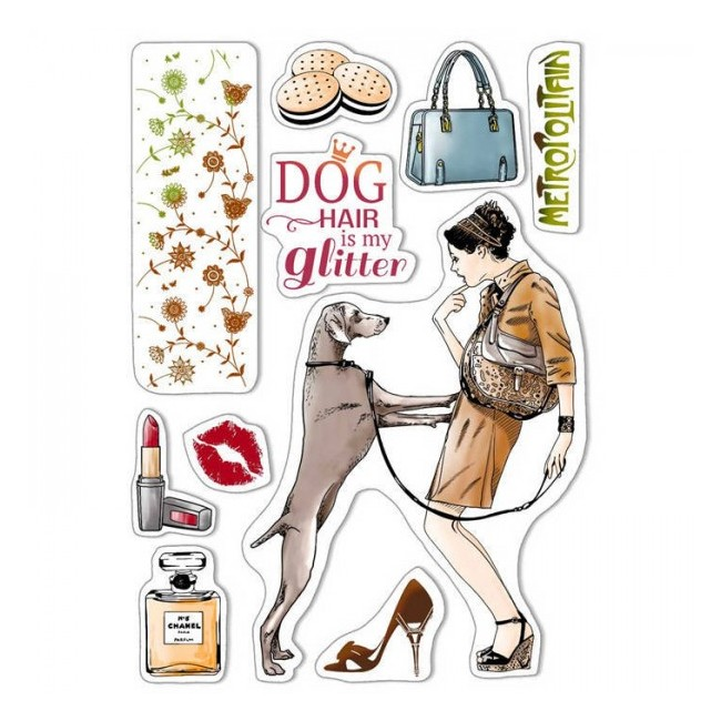 Tampon Acrylique 6x8 Notre Vie Dog air is my glitter