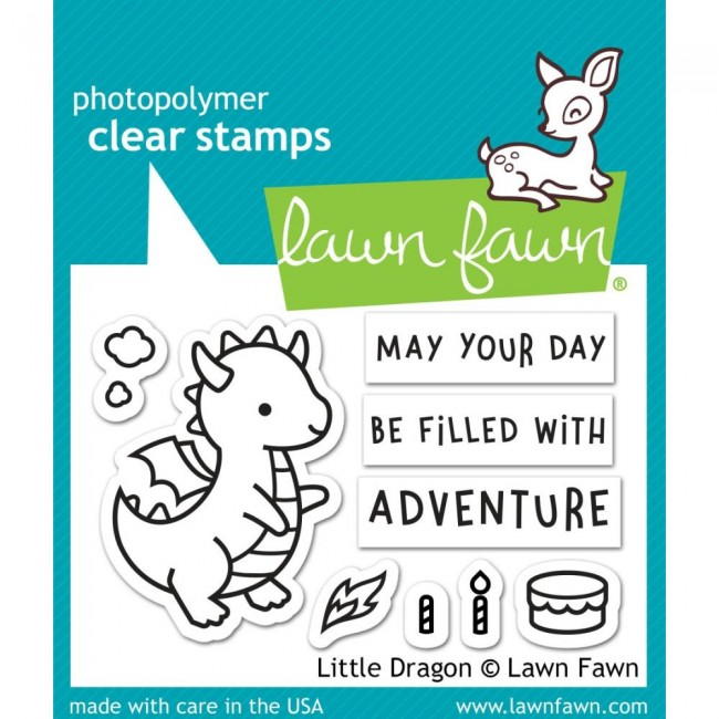 Tampon Acrylique 2x3 Lawn Fawn Little Dragon
