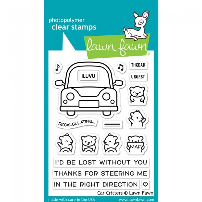 Tampon Acrylique 3x4 Lawn Fawn Car Critters