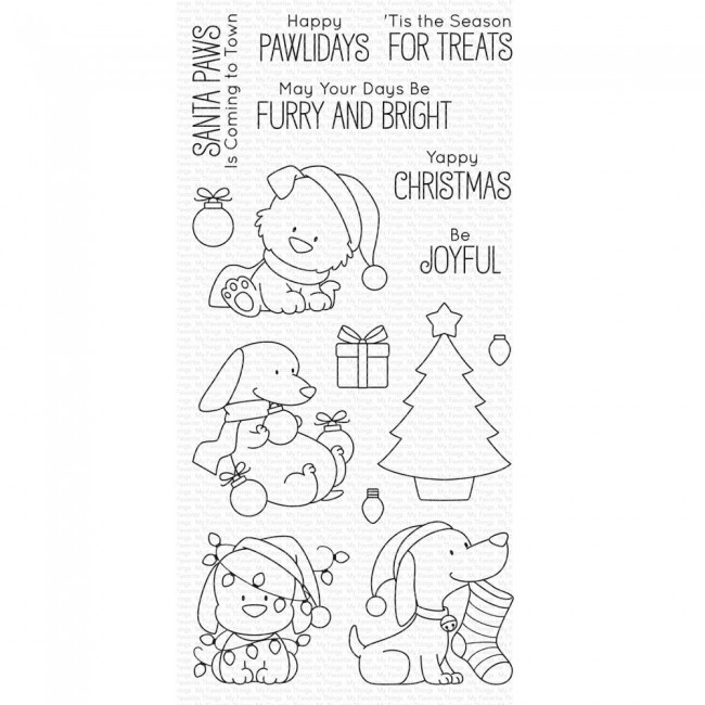 Tampon Acrylique 4x8 My Favorite Things Happy Pawlidays