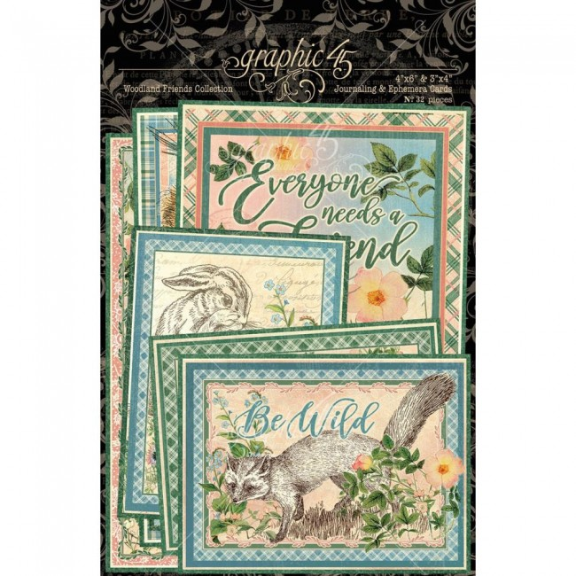 Lot de Cartes Project Life Woodland Friends