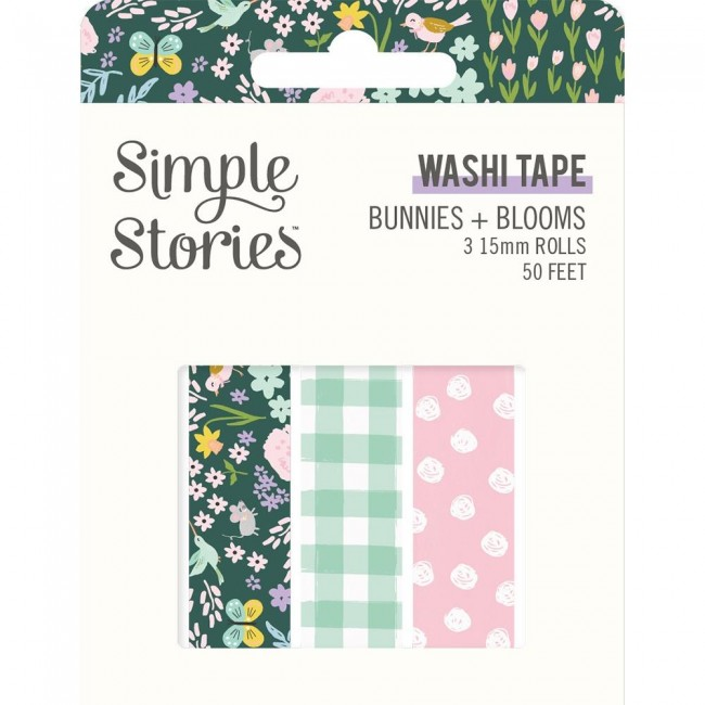 Lot de Washi Tape Bunnies & Blooms