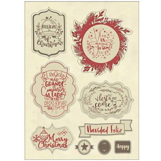 Lot d'embellissements en résine Gratitud Johanna Rivero Christmas label
