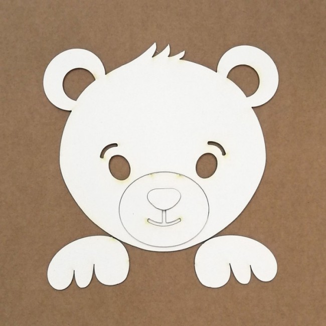 Silhouette en chipboard pour gaufrage Ours