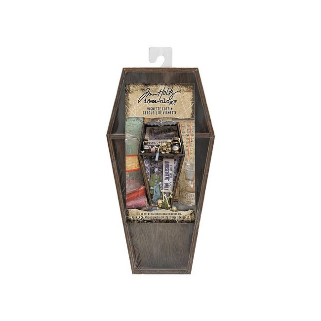 Support en bois Halloween Wooden Vignette Coffin