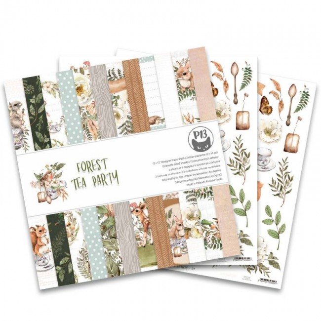Stack Papiers Imprimés 12x12 Forest Tea Party