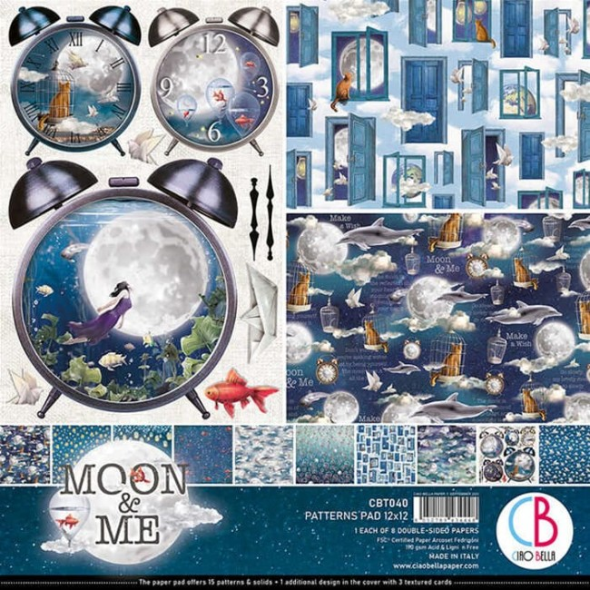 Stack Papiers Imprimés 12x12 Moon & Me Patterns