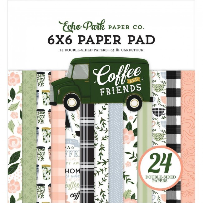 Stack Papiers Imprimés 6x6 Coffee and Friends