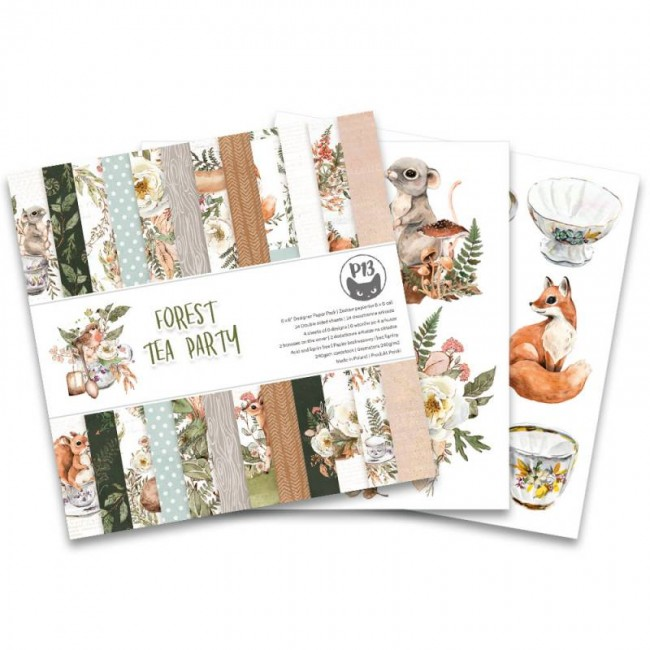 Stack Papiers Imprimés 6x6 Forest Tea Party